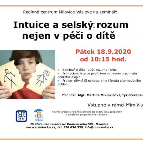 Intuice a selský rozum nejen v péči o dítě  od 10:15 1